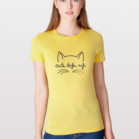 Cats, Tofu, Wifi ORGANIC Tee-Shirt (Women) | Cats, Tofu, Wifi BIOLOGIQUE Tee-Shirt (Femmes)