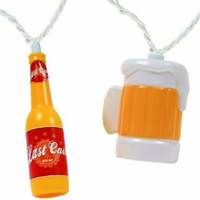 Beer Bottle & Mug Party String Lights, 8-Feet