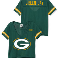 Green Bay Packers Cropped V-Neck Athletic Tee - PINK - Victoria's Secret