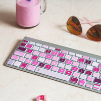 50 Shades Of Pink Macbook Decal Keyboard Sticker for Macbook Lenovo Asus Sony Dell HP Acer Samsung Toshiba Colorful Pink Chromebook MSI