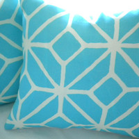 Trina Turk pillow cover, Pool Trellis print 18x18