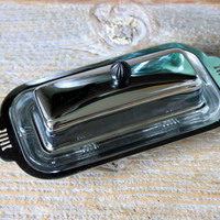 mid century chrome butter dish stainless steel with cover