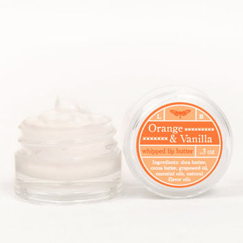 SALE - Whipped Lip Butter - Orange & Vanilla - Natural Icing for Your Lips