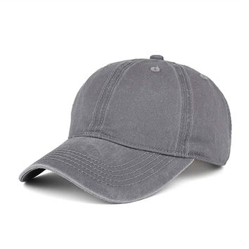 WINCAN Vintage Washed Dyed Cotton Twill Low Profile Adjustable Baseball Cap