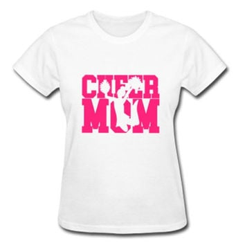 Cheer Mom Shirt, Cheer Shirt, Proud Cheer Mom Shirt, Cheerleading Mom T-Shirt, Sports Mom T-shirt, Pompom Cheer Shirt, Gifts for Cheer Mom