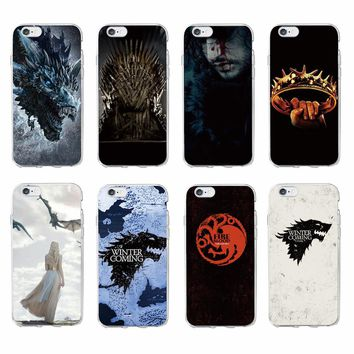 TOMOCOMO For iPhone 7 7Plus 6 6S 6Plus 8 8Plus X 5 5S SE Game Thrones Wolf  Soft TPU Phone Case Cover Coque Fundas For SAMSUNG