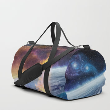 Cosmic fire Duffle Bag by exobiology