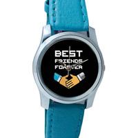 Best Friends Forever Pixel Art Wrist Watch