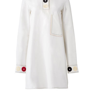 DEREK LAM White Embroidered Shirtdress