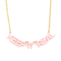 party banner necklace - keep it real