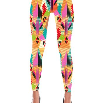 Colorful Abstract Print Leggings