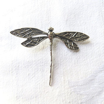 Sterling Dragonfly Pendant, Dragonfly Necklace, Bug Pendant, Insect Jewelry Dragonfly Jewelry