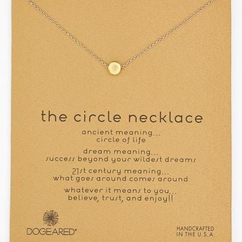 Women's Dogeared 'Reminder - The Circle' Pendant Necklace