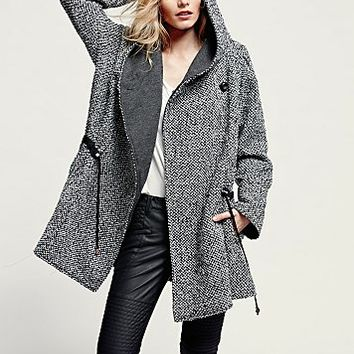 Free People Womens Satellite Image Swing Coat