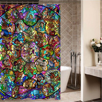 "disney all charecter Custom Shower curtain,Sizes available size 36""w x 72""h 48""w x 72""h 60""w x 72""h 66""w x 72""h"