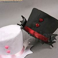 Gothic Punk Dandy Ouji Bat Mini Hat*Instant Shipping