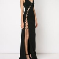 David Koma Lace-up Detail Evening Dress - Tootsies - Farfetch.com