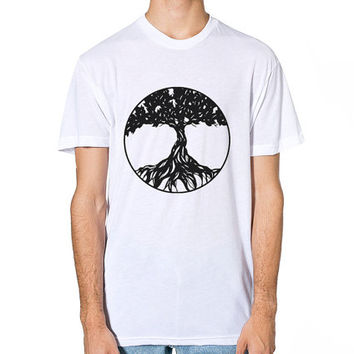Tree Of Life T Shirt, Tree Of Life Apparel, American Apparel T-Shirt, Boho Clothing, Festival Clothing, Womens Apparel, Mens T-Shirt, Gift