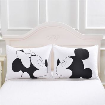 Disney personalized mickey&minnie lovers wedding day pillow cases