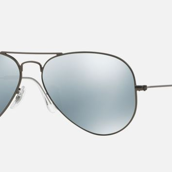 Cheap Ray-Ban Large Aviator Sunglasses, Gunmetal with Green Mirrored Lenses RB3025 outlet