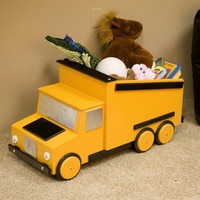 Just Kids Stuff Dumptruck Toy Chest | www.hayneedle.com