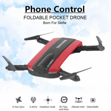 Selfie Drone With WIFI FPV Camera Foldable Pocket RC Quadcopter Phone Control Helicopter Wifi Mini Dron VS JJRC H37 Elfie Drone