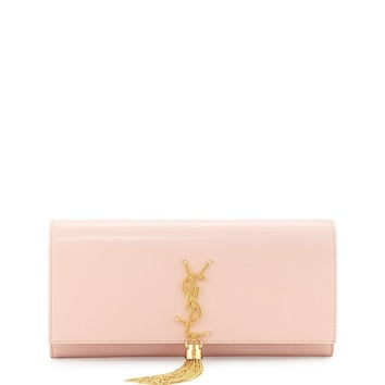 Monogram Calfskin Clutch Bag, Pale Blush