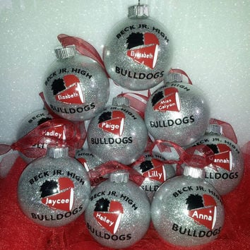 Personalized Cheerleader Christmas ornaments - Sets of ornaments - Squad Gifts - Team Gifts - Any colors!