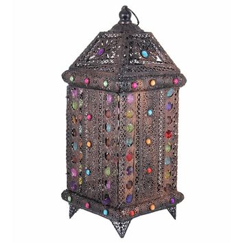 Opulent Antique Metal Lantern ,Copper