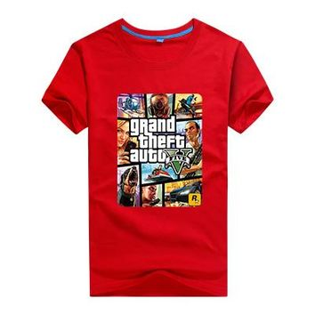 100% cotton short sleeve children boys girls t shirt kid wear clothes 6 colorful fashion street fight motor cool logo tops tees