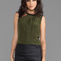 Nanette Lepore Neptune Silk Mercury Top in Olive from REVOLVEclothing.com