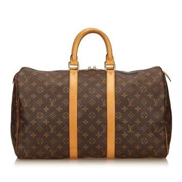 VLX9RV Louis Vuitton Vintage Monogram Keepall 55 Duffle Travel Bag 55