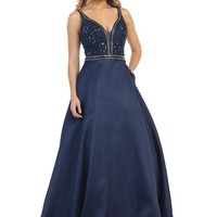 Long Formal Prom Ball Gown Evening Dress