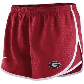 Women's Nike Red Georgia Bulldogs Modern Tempo Performance Shorts