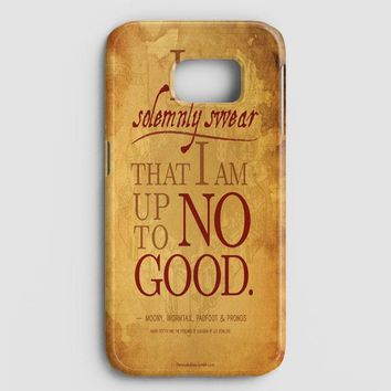 Harry Potter Quote  I Solemnly Swear That I Am Up To No Good Black Samsung Galaxy Note 8 Case