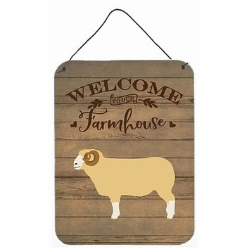Horned Dorset Sheep Welcome Wall or Door Hanging Prints CK6924DS1216