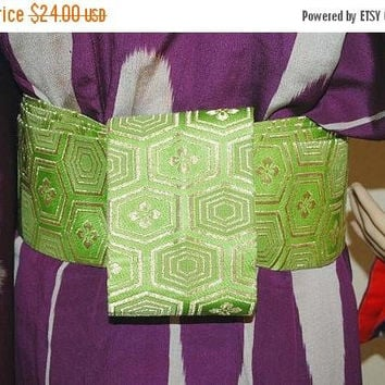 ON SALE Silk Obi, sash, obi for Kimono, obi for yukata, textile, Woven, japanese obi, sewing, silk fabric, craft gift, table runner, Japanes