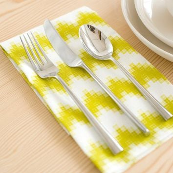 Chevron Pixel Napkin by PigeonToeCeramics on Etsy