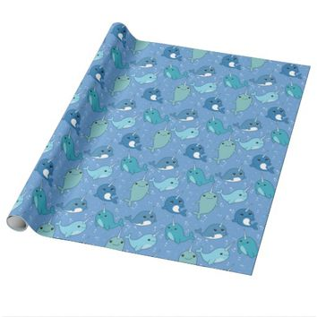 Cute Narwhal Pattern Wrapping Paper