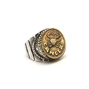Cancer Sign Astrology Zodiac Ring