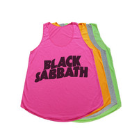 Black Sabbath Tank Top T Shirt Women T-Shirt Size S M