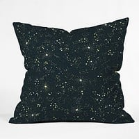 Joy Laforme Constellations In Midnight Blue Throw Pillow
