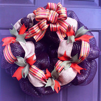 Fall Wreath Deco Mesh for Front Door