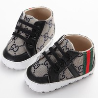 Cute Newborn Kids Baby Boy Girl Soft Sole Sneaker Strip Toddler Shoes 3-18Month Drop Ship
