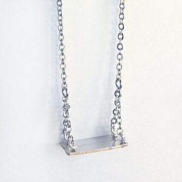 Swing Necklace - Long Silver Miniature Swing Necklace, OOAK - 'Swing'