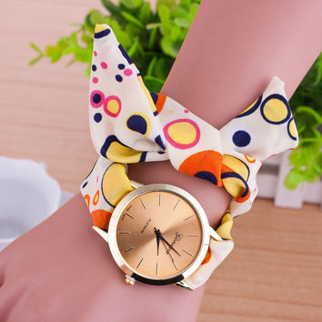 Fashion Fabric Strap Watch Women Fashion Bracelet