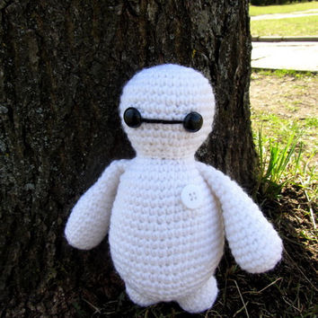 "Baymax, Hero from movie ""Big Hero 6"" , crochet toy, white hero, crochet amigurumi"