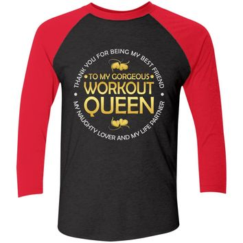 Workout Queen Baseball T-Shirt Jersey | Women's V-Neck Baseball Tee Jersey
