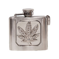 Belt Buckle Men's Pot Leaf Belt Buckle Silver