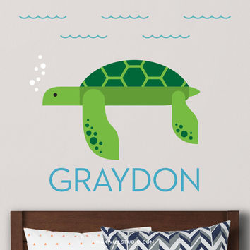 Sea Turtle Wall Decal (Personalized)
